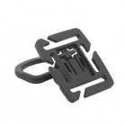 360 Degree Rotation Tactical D-Ring Buckle for MOLLE Locking Carabiner Backpack - Black (2 PCS)