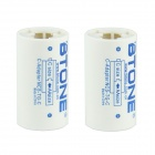 BTONE AA to Type-C Battery Adapter Converters - White + Sky Blue (2 PCS)