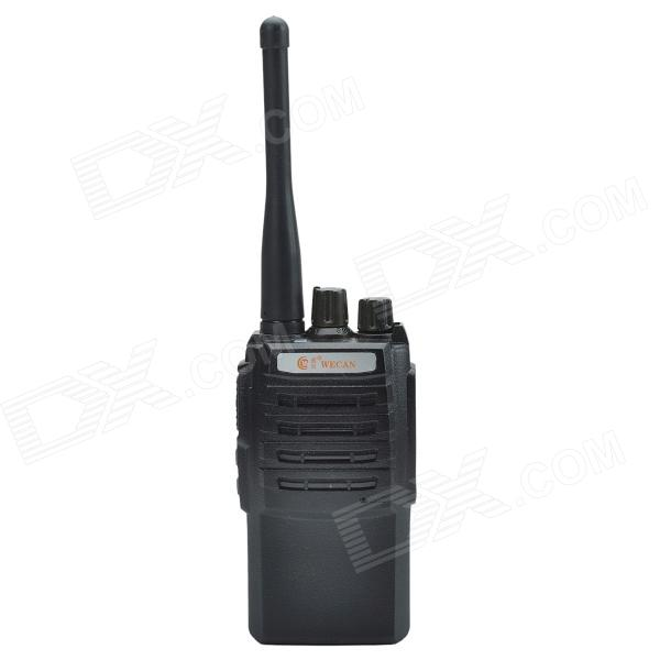 Wecan KC-418 5W 16-Channel 400-470Mhz Multi-fonction Professional FM Walkie Talkie - Black