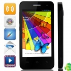 "mini M1 MTK6572 Dual-Core Android 4.2.2 WCDMA Bar Phone w/ 4.0"" QHD, 4GB ROM, GPS, FM - Black"