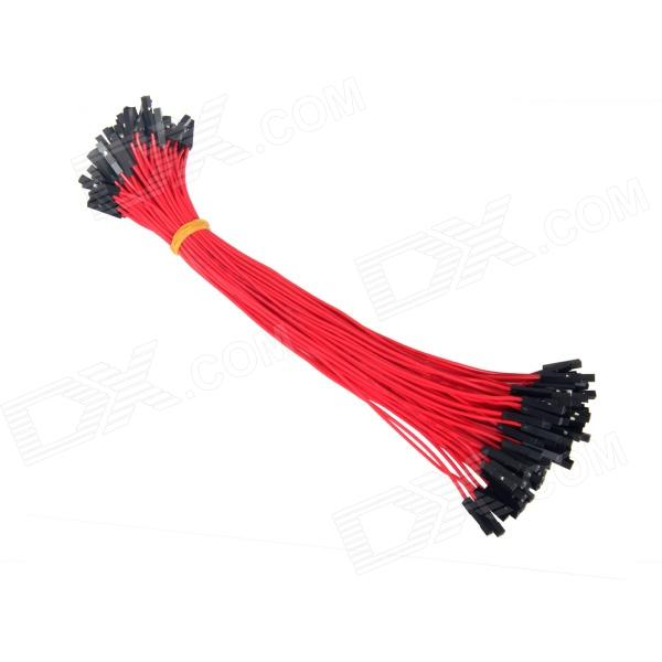 TENYING 1-Pin Female to Female DuPont Wire Connector Cables for Arduino - Red (20cm / 100 PCS) tenying 1 pin female to female dupont wire connector cables for arduino red 20cm 100 pcs