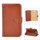 DYTI-071 Stylish Flip Open PU + PC Case w/ Stand / Card Slots for Samsung N7100 - Brown