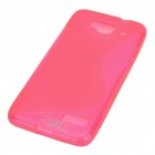 "IKKI ""S"" Shaped Protective TPU Back Case for Alcatel One Touch Idol Mini / OT-6012D - Pink"