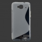 "IKKI ""S"" Shaped TPU Back Case for Alcatel One Touch Idol Mini / OT-6012D - Translucent White"