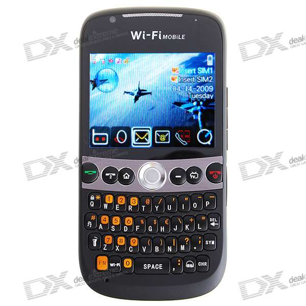 "C8000 2.4"" Touch Screen Dual SIM Dual Network Standby Quadband GSM TV Cell Phone w/WiFi + JAVA"