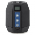 "J-048 Portable Multifunction 0.7"" LCD Bluetooth V2.1 Speaker w/ TF / FM Radio - Black + Blue"