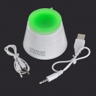 Mini Suction Cup Foldable Speaker for Samsung / XiaoMi / Tablet PC - White + Green