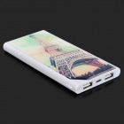 LSON Universal Patterned Dual USB Sortie 2500mAh rechargeable Li-polymère Power Bank - Blanc