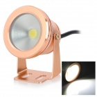 10W 550lm 6500K 1-LED White Underwater Lamp - Golden (DC 12~24V)