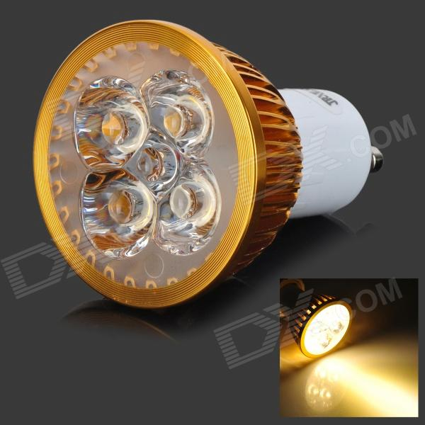 JRLED GU10 4W 350lm 3300K 5-LED Warm White Spotlight - Golden + White (AC 85~265V) gu10 4w 350lm 6100k 4 cree xpe led white light spotlight silver ac 85 265v