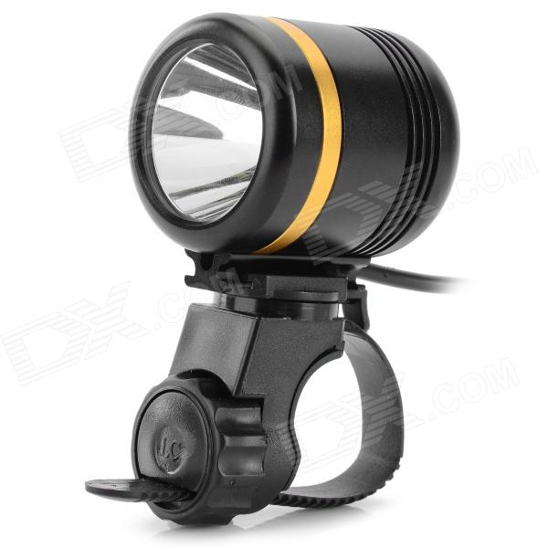 LetterFire YXS LED 900LM 5-Mode White Light Bike Light - Black + Golden (3.7~5V)