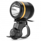 LetterFire YXS LED 900LM 5-Mode White Light Bike Light - Schwarz + Golden (3,7 ~ 5V)