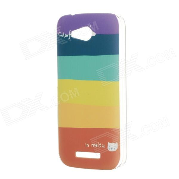 Fashion Stripe Style Plastic Protective Back Case for HUAWEI B199 - Multi-Colored