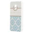 Painted Pattern PC Hard Back Case Cover for Xiaomi 2A - Light Blue + White