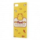 Painted Pattern PC Hard Back Case Cover for Xiaomi 3 - Yellow