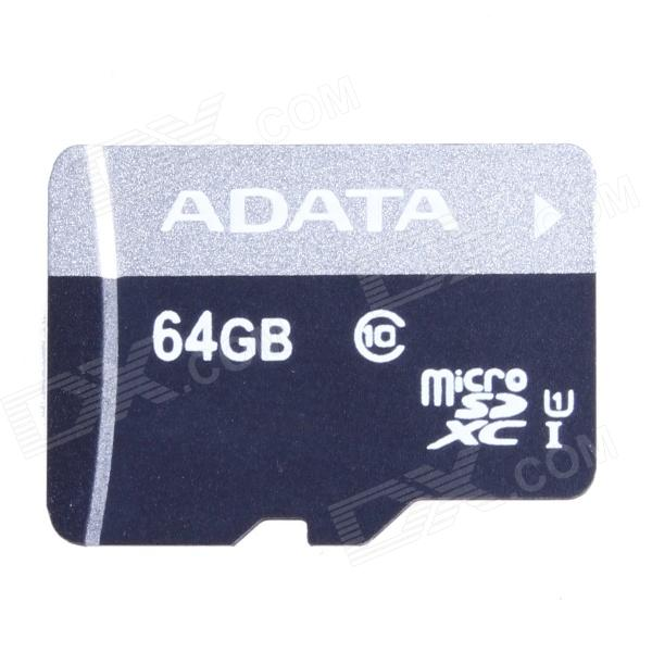ADATA Premier microSDXC UHS-I Class10 TF Memory Card - Black + Gray (64GB) 30pcs in one postcard take a walk on the go dubai arab emirates christmas postcards greeting birthday message cards 10 2x14 2cm