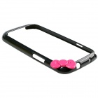 Fashionable Protective Bumper Frame Case with Bowknot for Samsung Galaxy S3 / I9300 - Black