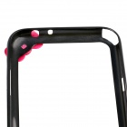 Fashionable Protective Bumper Frame Case with Bowknot for Samsung Galaxy Note 2 / N7100 - Black