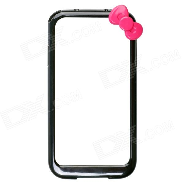 Fashionable Protective Bumper Frame Case with Bowknot for Samsung Galaxy S4 / I9500 - Black