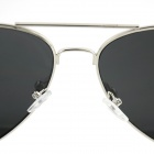 OUMILY Retro Style Zinc Alloy Frame PC Lens UV400 Protection Sunglasses - Silver