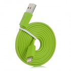 MFi Huntkey Lightning 8-Pin Male to USB 2.0 Male Cable for IPHONE / IPAD / IPOD - Green (100cm)