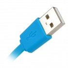 MFi Huntkey Lightning 8-Pin Male to USB 2.0 Male Cable for IPHONE / IPAD / IPOD - Blue (100cm)