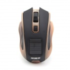 FCN T008 2.4GHz 1000 / 1500 / 2000DPI Solar Wireless Optical Mouse - Black (1 x AA)