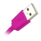 MFi Huntkey Lightning 8-Pin Male to USB 2.0 Male Cable for IPHONE / IPAD / IPOD - Deep Pink (100cm)