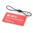 Slettbare NFC Smart TAG Kit for mobiltelefon med NXP 888 byte / kompatible / Ntag216 - blå + rød