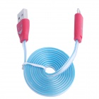 Lighting Smile USB to Micro USB Data Charging Cable for Samsung I9000 / I9100 / 9300 - Blue + Red