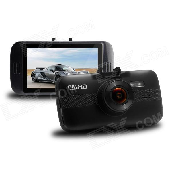 3.0 TFT FullHD 1080P 5.0 MP COMS Car DVR w/ G-sensor, Loop-cycle Recording, 4X Digital, 1-IR LED awei stylish in ear earphone with microphone for iphone ipad more black 3 5mm plug