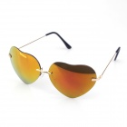 Heart-shaped Lens Metal UV400 Protection Sunglasses for Women - Black + Golden