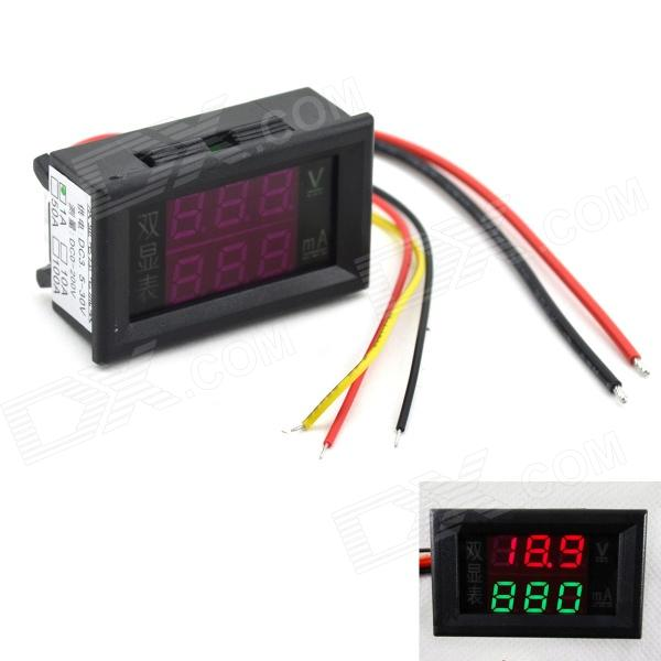 MaiTech 0.28 DC LED Red + Green Display Digital Current and Voltage Table - Black (0-200V / 1A) комод для детской столплит дакота сб 2088 сосна авола шампань белый глянец