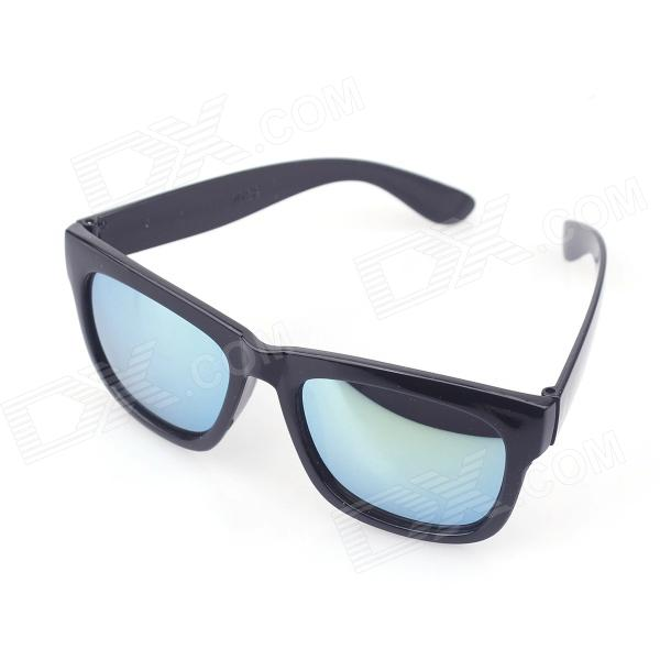 Classic Style UV400 Protection Reflective Sunglasses - Black