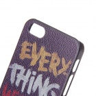 Fashion Graffiti Word Protective Plastic Back Case for IPHONE 5 / 5S - Purple + Yellow + White + Red