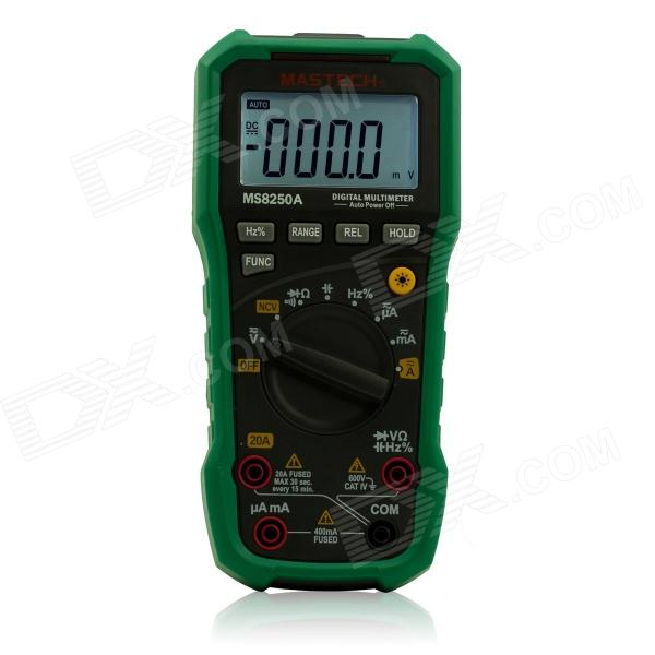MASTECH MS8250A Handheld Smart Digital Multimeter w/ Auto Range / AC Voltage Detection (1 x 6F22) my68 handheld auto range digital multimeter dmm w capacitance frequency