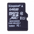 Kingston Micro SDXC TF Memory Card - Black (64GB / Class 10)