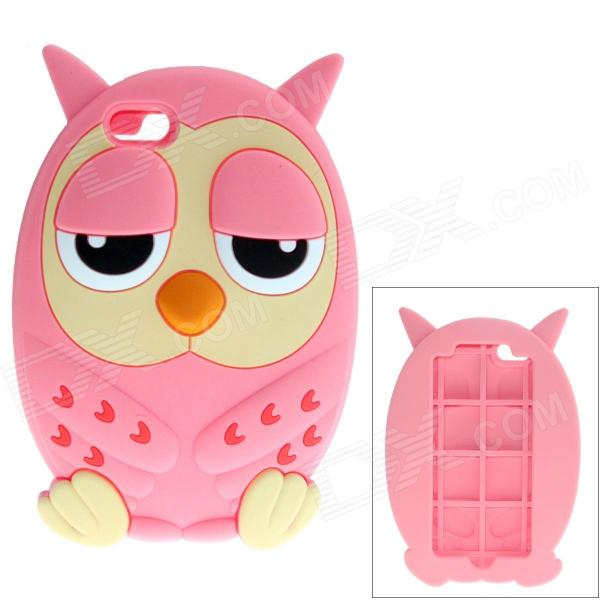все цены на  Cute Owl Style Protective Silicone Back Case for IPHONE 5 / 5S - Pink  онлайн