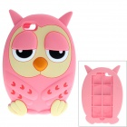 Cute Owl Style Protective Silicone Back Case for IPHONE 5 / 5S - Pink