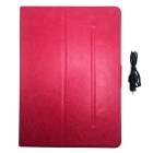 BK998 Bluetooth V3.0 65-Key Keyboard w/ Protective PU Leather Case for IPAD AIR - Pink