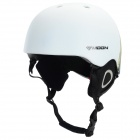 Moon MS-90 Professional Outdoor Skiing Helmet - White + Blue (Size M)