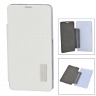 ROCK TZ-SNZ1 Protective Flip Open PC + PU Case for Sony Xperia Compact Z1 M51w - White + Transparent