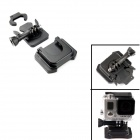 PANNOVO Universal Curve Helmet Mount w/ 3M Sticker for GoPro Hero 3+ / 3 / 2 / SJ4000 - Black