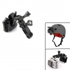 PANNOVO Universal Curve Helmet Front Mount w/ 3M Sticker for Gopro Hero 4/ 3+ / 3 / 2 / SJ4000 - Black