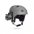 PANNOVO Universal Side Curve Helmet Mount w/ 3M Sticker for Gopro Hero 4/ 3+ / 3 / 2 / SJ4000 - Black