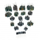 18 Kinds of Common Electrolytic Capacitors Set w/ Storage Box for PC - Green (180 PCS)