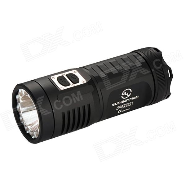 SUNWAYMAN F40A 11-LED 880lm 7-Mode Cool White / Red / Blue Flashlight - Black (4 x AA)
