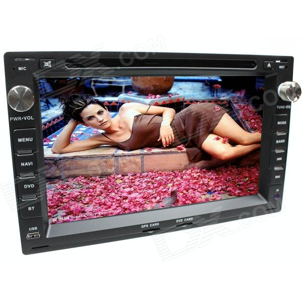 LsqSTAR 7 Touch Screen 2-DIN Car DVD Player w/ GPS, AM,FM,RDS,6CDC,AUX for Vw crossfox / espacefox lsqstar 7 touch screen 2 din car dvd player w gps am fm rds 6cdc tv dual zone aux for rav4