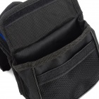 BOI 12850 Universal Polyester Outdoor Cycling Bike Top Tube Double Bag - Black + Blue