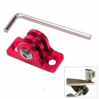 Aluminum Alloy Skating/Surfing Board Mount Fixed Socket for Gopro Hero 4/ 3+/3/2/SJ4000 - Red + Silver